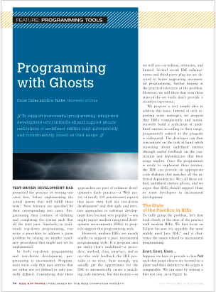 Programming with Ghosts
